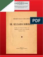 Belisario Dominguez Discurso