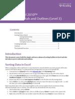 Sorting, Subtotal & Outline
