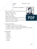 Rizal Resume