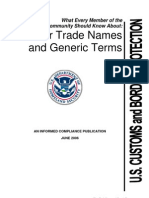 Fiber Trade Name and Generic Name
