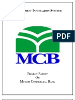 report on information system of Muslim Commercial Bank