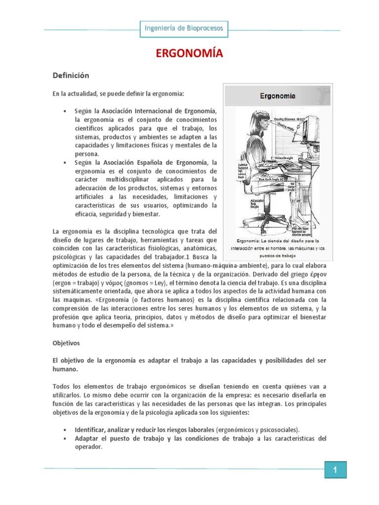 Ergonomía y Ing. Metodos