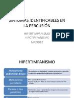 SINTOMAS IDENTIFICABLES EN LA PERCUSIÓN