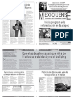 Versión impresa del periódico El mexiquense  25 junio 2013