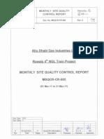 MSQCR-CR-005 Rev.0 Monthly Site Quality Control Report[1]