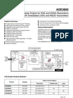 [ZHKZ_3066]  T-CON Schematic (1).pdf | Analog To Digital Converter | Microcontroller | T Con Board Block Diagram |  | Scribd