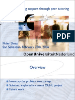 Online Learning Support Through Peer Tutoring, OpenUniversiteitNederland 2006