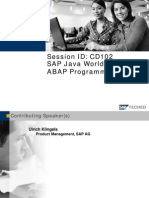 SAP Java World for ABAP Programmers