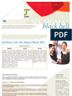 Lean Six Sigma Black Belt Certification Brochure for Students