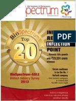BioSpectrum-ABLE Biotech Industry Survey, 2013