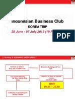 Indo Biz Korea Schedule 2