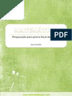 PREPARAÇÃO PARA PROVA FINAL DE MATEMÁTICA 2º ciclo