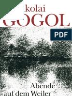 Nikolai Gogol - Abende Auf Dem Weiler Bei Dikanka