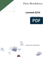 Lexmark E120N Parts List