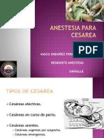 Anestesia Parto y Cesarea