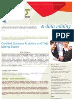 Certified Business Analytics and Data Mining Expert Brochure