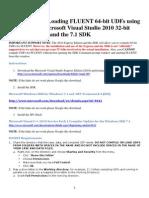 Udf Fluent Sdk and Visual c