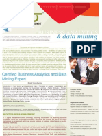 Business Analytics and Data Mining for Management Institutes