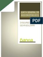 Discurso de J.I. Goirigolzarri - Junta General de Accionistas 2013