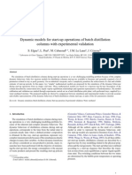 Dynamic Models for Start-up Operations of Batch Distillation