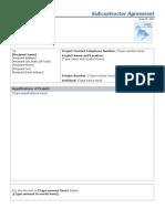 Subcontractor Agreement