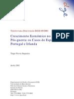Crescimento Econômico no Pós-Guerra (os casos de Espanha Portugal e Irlanda)