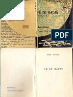 Fe de Ratas - Tomas Vidaurre