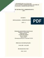 Caiet Practica Administrativa - Primaria Municipiului Botosani