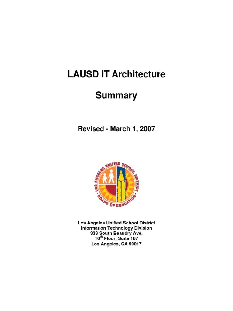 Lausd Technology Plan Internet Access Computer Network