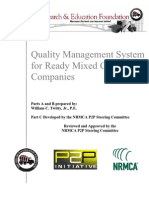 Quality Management System for Ready Mixed Concrete Companies