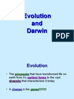 The Theory of Evolution and Darwin