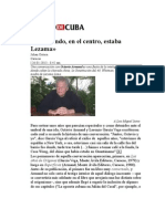 Octavio Armand Sobre Lezama ENTREVSTA en DDC