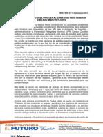 EL AYUNTAMIENTO DEBE OFRECER ALTERNATIVAS PARA GENERAR EMPLEOS