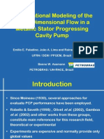 Computational Modeling of the Three-Dimensional Flow in a Metallic Stator Progressing Cavity Pump