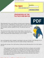 Prophecies of the Toltecs and Mayas, Return of Quetzalcoatl, Bahai