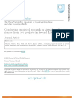 Conducting empirical research in virtual worlds