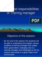 69251372 Session 2 Role and Responsibilities and Challenges of Training Manager