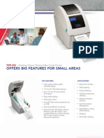 TSC TDP-225 Desktop Barcode Printer Brochure