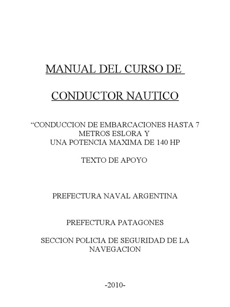 Manual Conductor Nautico Combustion Barcos