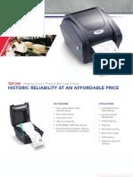 TSC TDP-244 Desktop Printer Brochure