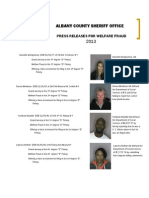 Albany County Welfare Fraud Arrests