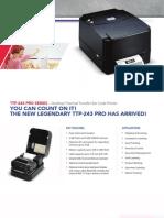 TSC TTP-243 Pro Series Brochure