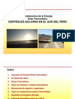 5. Tecnologia Aplicada en La Central Fotovoltaica TACNA SOLAR