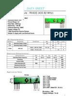 RF Receiver Module Datasheet