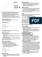 Citizen Instruction Manual 8200