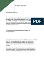 PROCESO DE SELECCIÓN DE PERSONAL