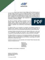 Reglamento de ética-Colegio de Contadores Públicos de CR