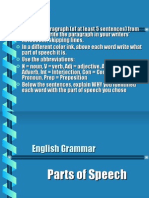 Parts of Speech Ppt