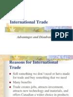 International Trade Advantages and Disadvantages