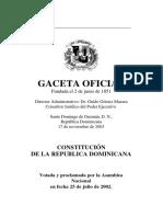 Constitución de la República Dominicana, 2002
